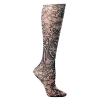 "Womens 18"" Trouser Sock-Brown Stained Glass"