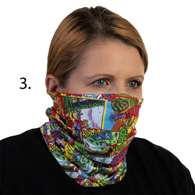 Face Mask Buff Face Covering-Comic