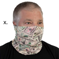 Face Mask Buff Face Covering-Cash Money