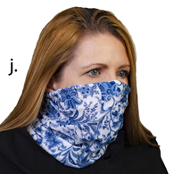 Face Mask Buff Face Covering-Navy Paris