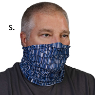 Face Mask Buff Face Covering-Blue Pylon