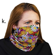 Face Mask Buff Face Covering-Colorful Daisies