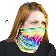 Face Mask Buff Face Covering-Mixed Stripes