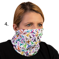 Face Mask Buff Face Covering-Multi Ribbons