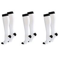 Knit Women's 8-15 mmHg Compression Socks, 3 pairs