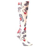 Womens Compression Sock-Biker Heart