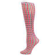 Womens Compression Sock-Holiday Check