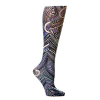 Womens Compression Sock-Brown Dotty