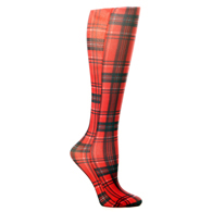 Womens Compression Sock-Rouge Plaid