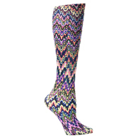 Womens Compression Sock-Blue Fleur Missoni