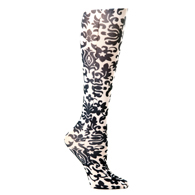 Womens Compression Sock-Black Fountain