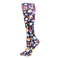 Womens Compression Sock-Bedazzled Black