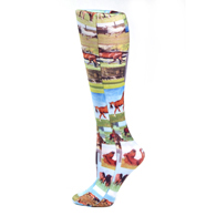 Womens Compression Sock-Horse Collage
