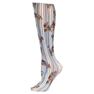 Womens Compression Sock-Jumping Horses