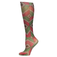 Womens Compression Sock-Harlequin Dotty