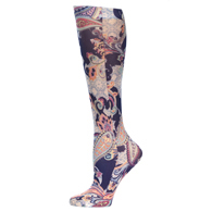 Womens Compression Sock-Mosaic Paisley