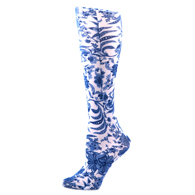 Womens Compression Sock-Navy Paris