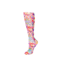 Womens Compression Sock-Abstract Colors