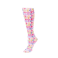 Womens Compression Sock-Honeycomb Multi