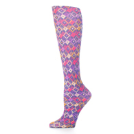 Womens Compression Sock-Purple Dot Matrix
