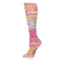 Womens Compression Sock-Bright Paisley