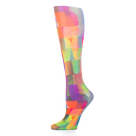 Womens Compression Sock-Watercolor Tiles