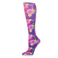 Womens Compression Sock-Navy Daisy