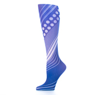 Womens Compression Sock-Diagonal Dots Blue
