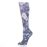 Womens Compression Sock-Climbing Roses Black