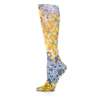 Womens Compression Sock-Gina's Flowers