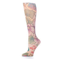 Womens Compression Sock-Tan Tapestry