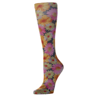 Womens Compression Sock-Daisies