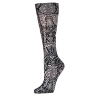 Womens Compression Sock-Black & White Versache