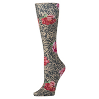 Womens Compression Sock-Tiger Rose