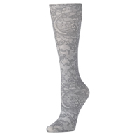 Womens Compression Sock-Grey Morning Lace