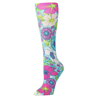Womens Compression Sock-Lilly's Garden