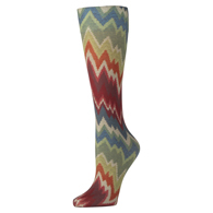 Womens Compression Sock-Fall Chevron