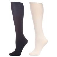 Womens Compression Sock-Black White (2 Pack)