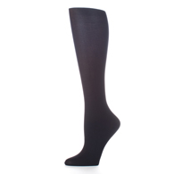 Womens Compression Sock-Black Solid