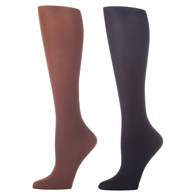 Womens Compression Sock-Brown Black (2 Pack)