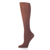 Womens Compression Sock-Brown Solid