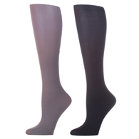 Womens Compression Sock-Grey Black (2 Pack)