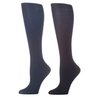 Womens Compression Sock-Navy Black (2 Pack)