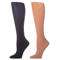 Womens Compression Sock-Nude Black (2 Pack)