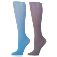 Womens Compression Sock-Periwinkle Gray (2 Pack)