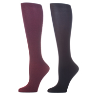 Womens Compression Sock-Purple Black (2 Pack)