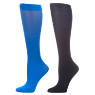 Womens Compression Sock-Royal Black (2 Pack)