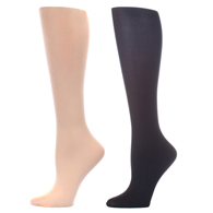 Womens Compression Sock-Skin Black (2 Pack)