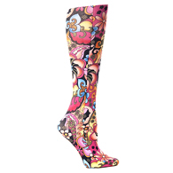 Womens Diabetic Crew Socks-One Size-Bright Majik