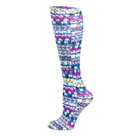 Womens Diabetic Crew Socks-One Size-Emerald Dazzle
